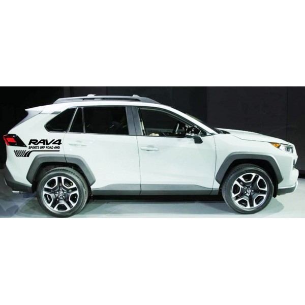 Стикер RAV4 Sports off road 4WD 2бр.