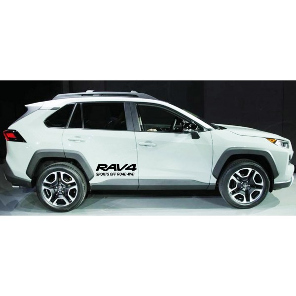 Стикер RAV4 Sports off road 4WD 2бр. (2)